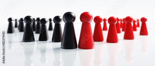 Spielfiguren Schwarz Rot große Koalition