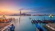 Quadro Venice Panorama. Panoramic cityscape image of Venice, Italy during sunrise.