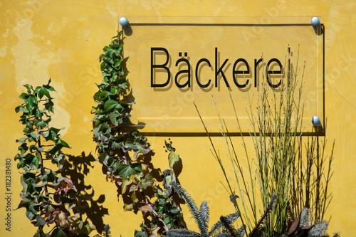 Schild 233 - Bäckerei