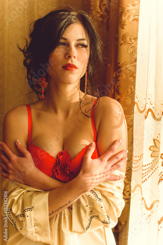 Search and choose what kind of lingerie to wear for romantic, intimate Christmas time Poster