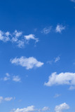 Bright blue Sky with some clouds.