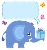 Elephant with copyspace theme 4 - 182389052
