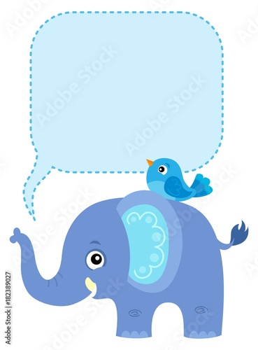 Plexiglas Voor kinderen Elephant with copyspace theme 1