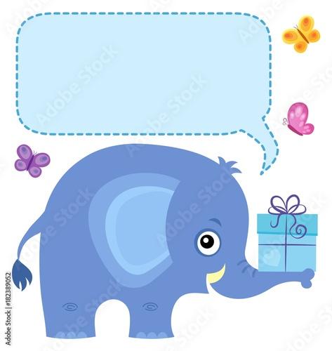 Plexiglas Voor kinderen Elephant with copyspace theme 4