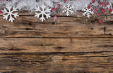 Fototapety Christmas decoration on wooden background
