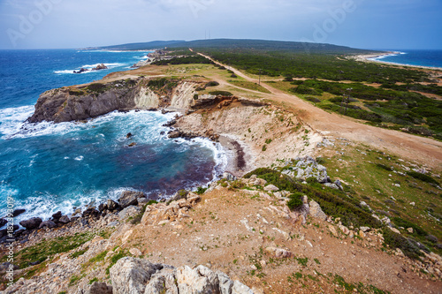 Foto op Canvas Cyprus Last point of Karpaz peninsula - cape Zafer Burnu, North Cyprus