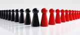 Spielfiguren Schwarz Rot große Koalition  - 182395673