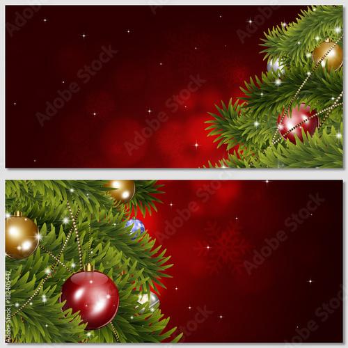 Holiday Christmas Tree Banners