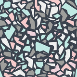 seamless pattern with terrazzo ornament - 182407268