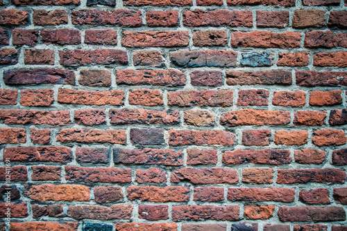 Foto op Canvas Baksteen muur old red brick wall texture background