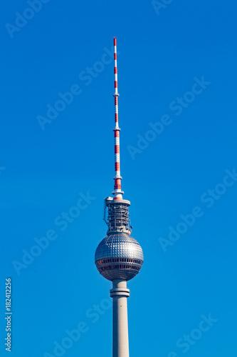In de dag Berlijn Berlin TV tower