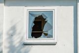 Broken window in the house