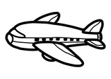 airplane / cartoon vector and illustration, black and white, hand drawn, sketch style, isolated on white background.