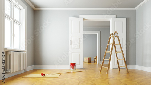 Keuken foto achterwand Hoogte schaal Renovierung einer Wohnung beim Umzug