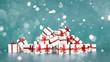 Geschenke zu Weihnachten im Schnee im Winter - 182414406