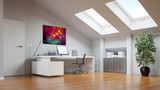 Ausgebauter Dachboden als Home Office - 182414473