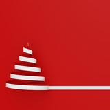Quadratische Karte zu Weihnachten mit Weihnachtsbaum - 182414673