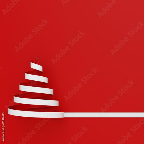 Quadratische Karte zu Weihnachten mit Weihnachtsbaum