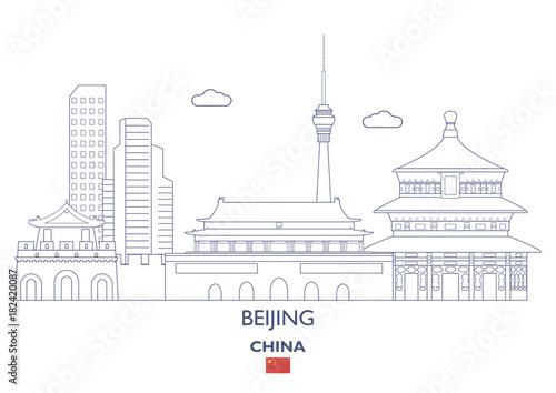 Fototapeta Beijing City Skyline, China