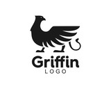 Awesome Modern Griffin Eagle Lion Logo Animal