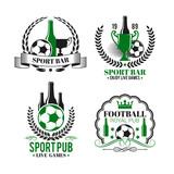 Vector icons for soccer bar or football sport pub - 182422467