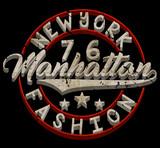 College New York typography, t-shirt graphics. - 182425486