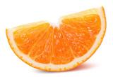 orange slice isolated on a white background