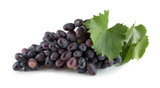 purple grapes isolated on a white background - 182426633