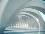 Abstract structure,Product showcase background,Long tunnel.3D rendering  - 182429048