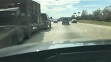 Time lapse of driving down highway on commute to work in Chattanooga Tennessee - 182433833