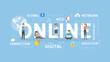 Online concept illustration.