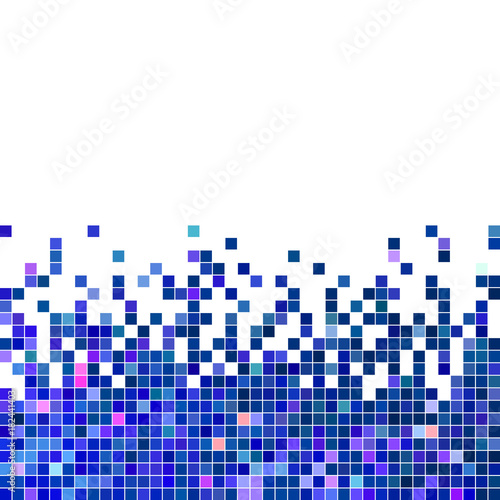Fototapeta abstract vector square pixel mosaic background