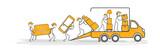 déménagement transport déménageurs - 182443240