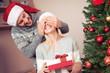 Quadro Couple celebrating Christmas together