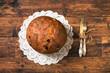 Panettone. Christmas Italian cake