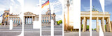 BERLIN letters filled with pictures of famous places and cityscapes in Berlin city, Germany - 182451220