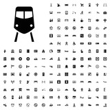 Train icon illustration. airport icons set for web and mobile. - 182457655