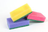 colored sponges on white background - 182460072