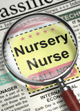 Nursery Nurse Job Vacancy. 3D.