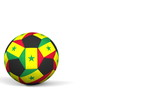 Football ball featuring flags of Senegal. 3D rendering - 182469001