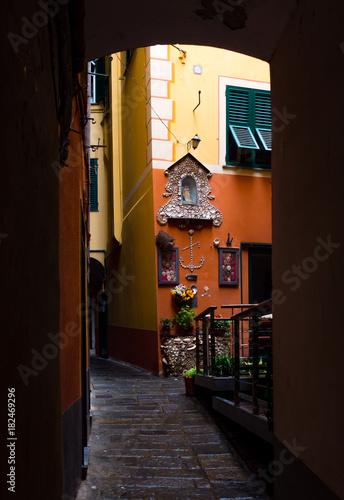 Fotobehang Liguria Camogli, Włochy