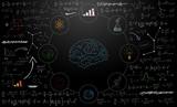 lavagna, formule, icone, sfondo - 182473457
