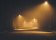 Quadro Night street in the fog.  Los Angeles. California. America. Novem 2017