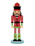 Christmas Nutcracker Cartoon Illustration Wooden Soldier Toy Gift From The Ballet Eps 10  Illustration Wall Sticker