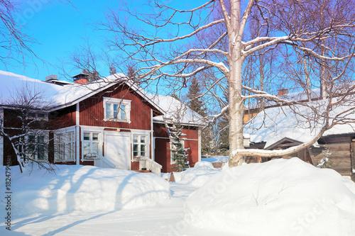Fototapeta Cozy Cottage and winter Rovaniemi