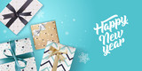 New Year greeting card. Vector illustration concept for greeting cards, website and mobile banners, marketing material. - 182479470