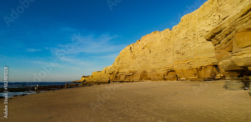 Poster Honing Secluded California Beach along Cliffs