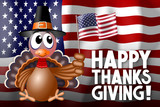 Happy Thanksgiving card - 182481641