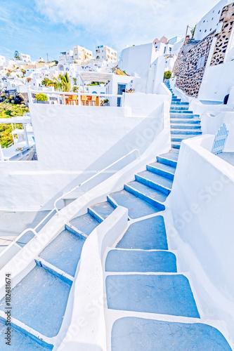 Santorini, Greece. Cityscape. Vertical orientation photo.