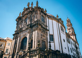 Clerigos Church at Porto, Portugal. Beutiful old Baroque Church. - 182483008